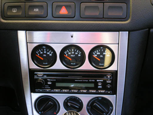 VW Mk4 Triple Gauge Panel (Aluminum)