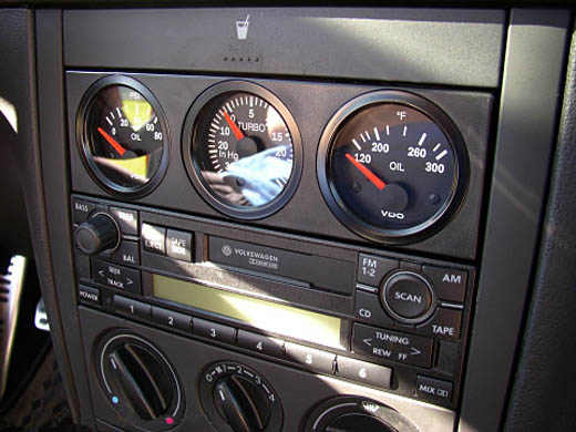VW Mk4 Triple Gauge Panel (Black)