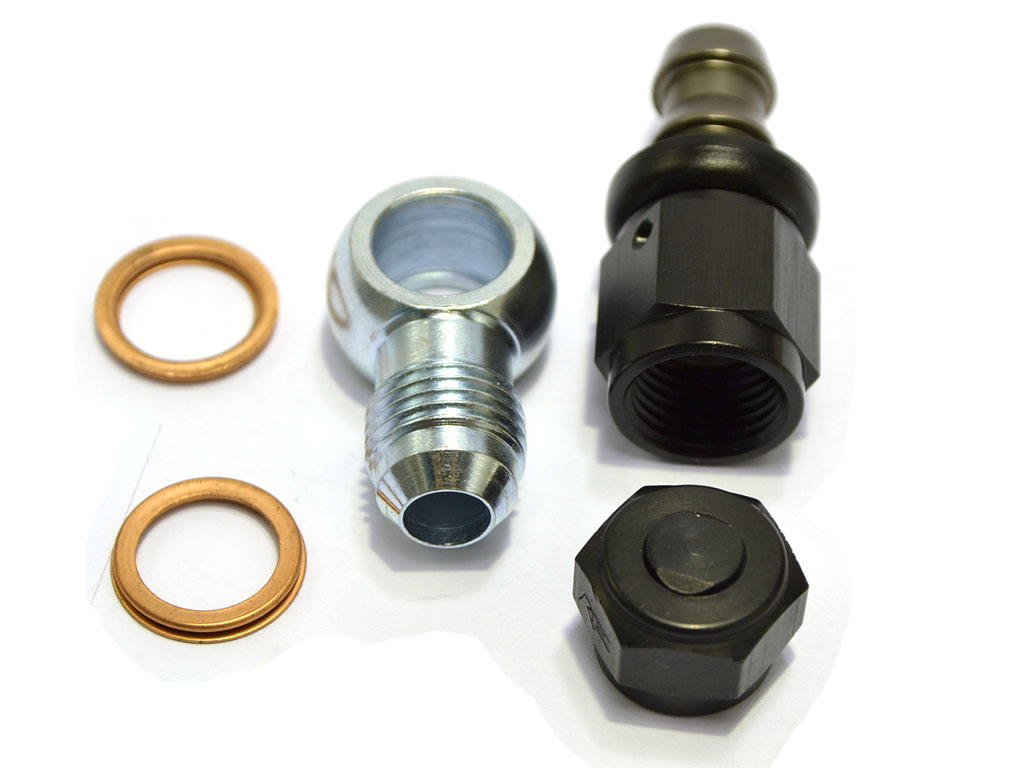 "6AN + 5/16"" barb fittings kit for Bosch pumps"