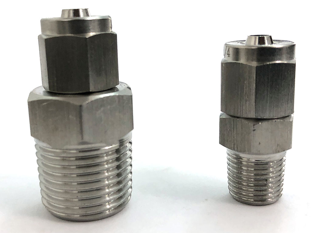USRT 3/8 NPT compression fitting vs. 1/8